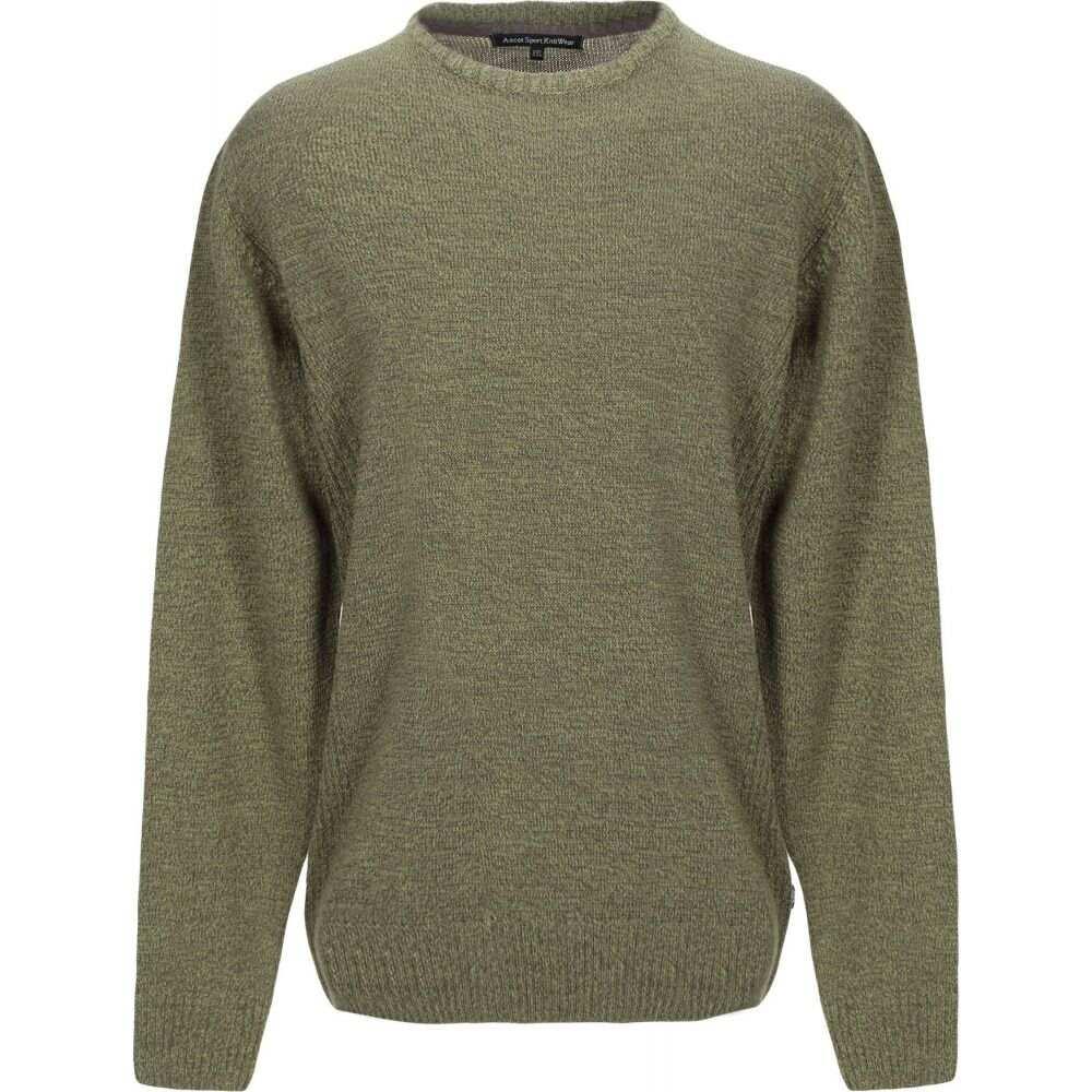 アスコットスポーツ 爆買い新作 メンズ トップス ニット セーター 超激安特価 ASCOT Green サイズ交換無料 SPORT Sweater