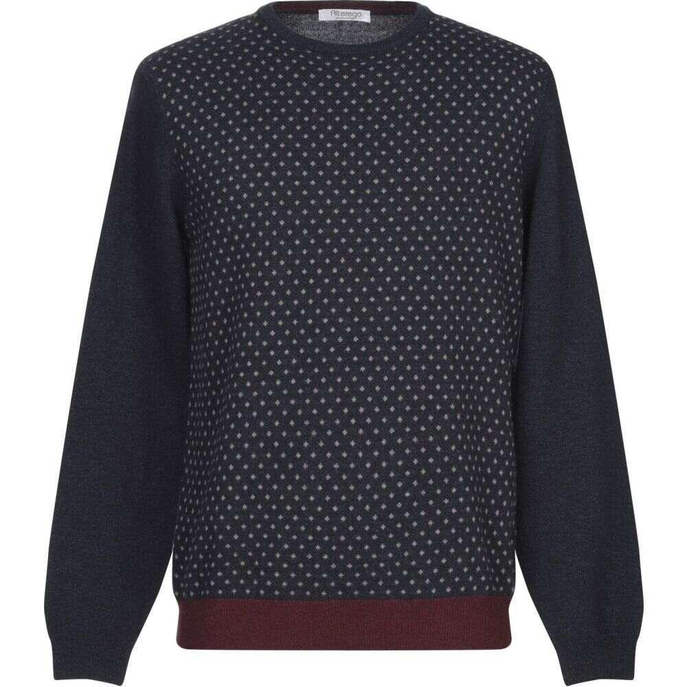 オルターエゴ ☆最安値に挑戦 新作アイテム毎日更新 メンズ トップス ニット セーター Sweater Dark サイズ交換無料 blue ALTEREGO