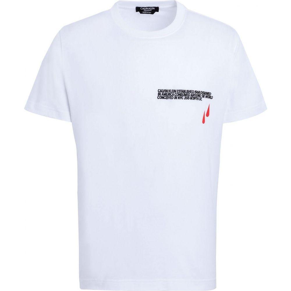 新しい季節 カルバンクライン CALVIN カルバンクライン KLEIN 205W39NYC 205W39NYC メンズ メンズ Tシャツ トップス【T-Shirt】White, berry:121d46fe --- rishitms.com