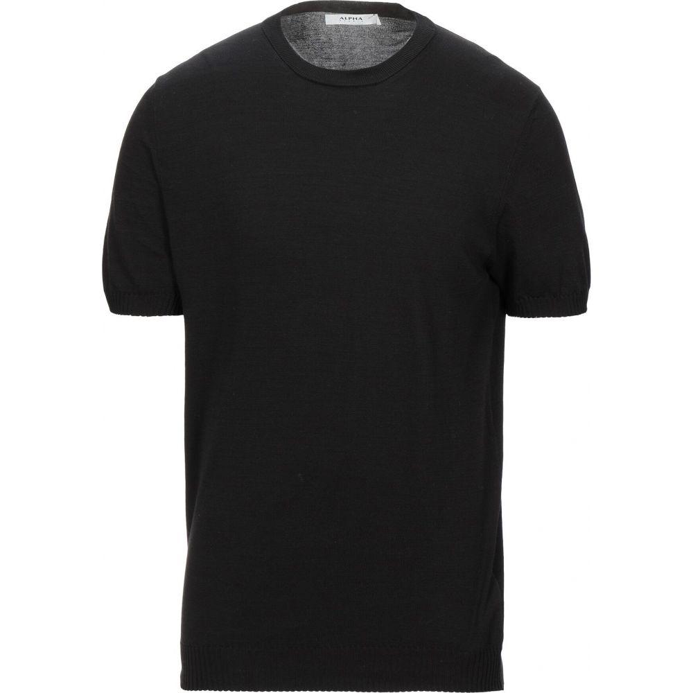 アルファス テューディオ メンズ トップス ニット 現品 セーター 今だけ限定15%OFFクーポン発行中 STUDIO ALPHA サイズ交換無料 Sweater Black