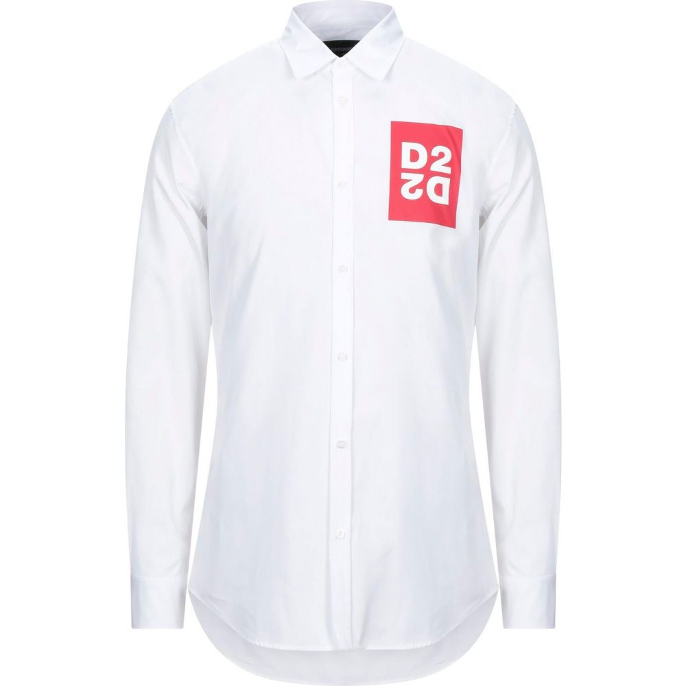 希少 黒入荷! ディースクエアード DSQUARED2 メンズ シャツ トップス【Solid Color Shirt】White, G-SHOPチャンネル 2ff2177b