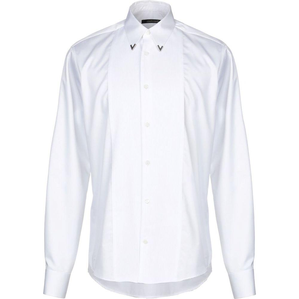 ロベルト カヴァリ ROBERTO CAVALLI メンズ シャツ トップス【solid color shirt】White