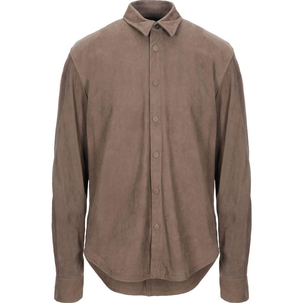 スチュアート STEWART メンズ シャツ トップス【solid color shirt】Khaki
