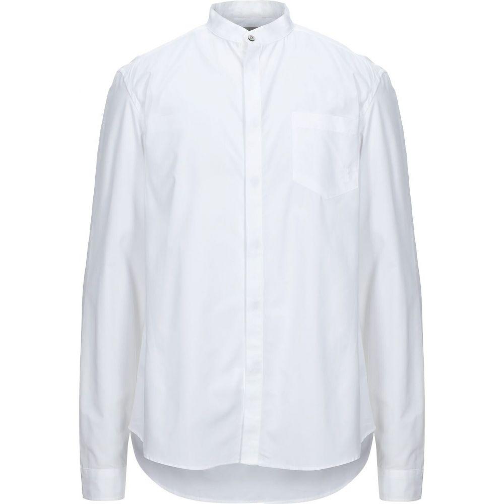 バルマン PIERRE BALMAIN メンズ シャツ トップス【solid color shirt】White