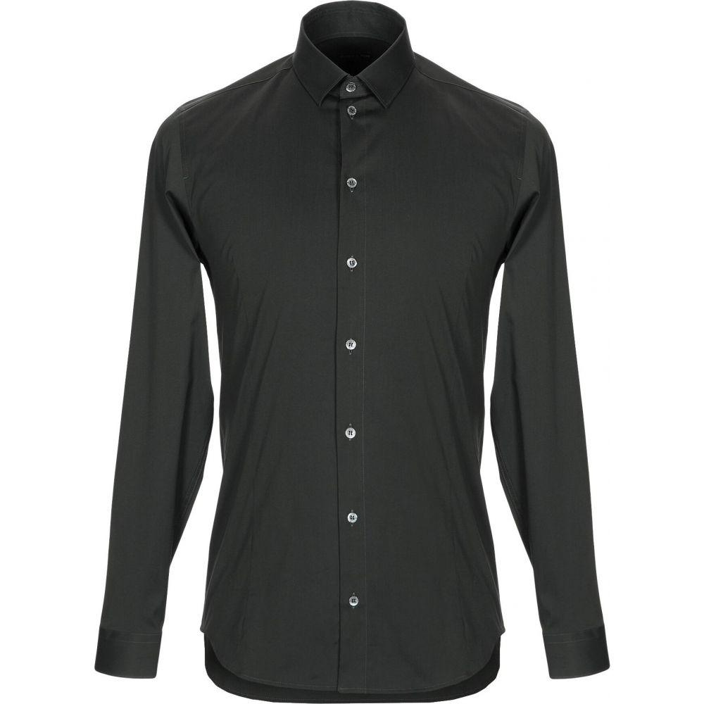 パトリツィア ペペ PATRIZIA PEPE メンズ シャツ トップス【solid color shirt】Dark green