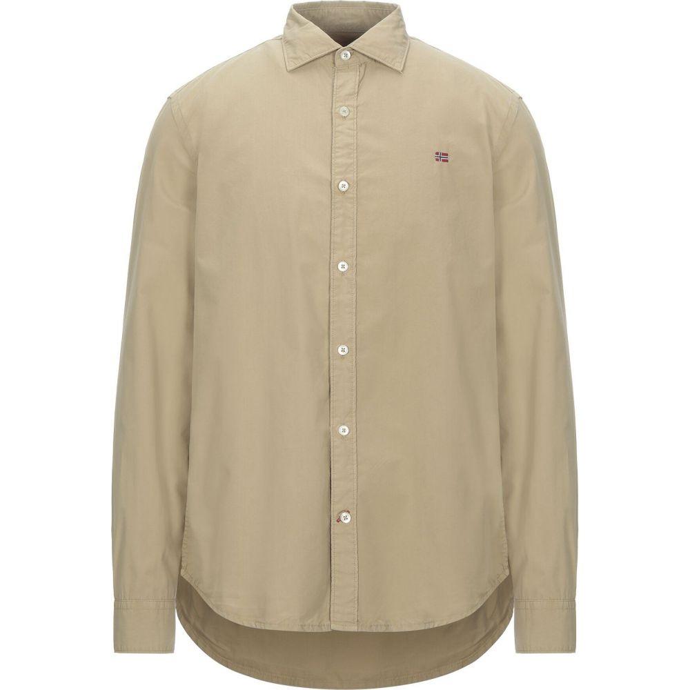 ナパピリ NAPAPIJRI メンズ シャツ トップス【solid color shirt】Beige