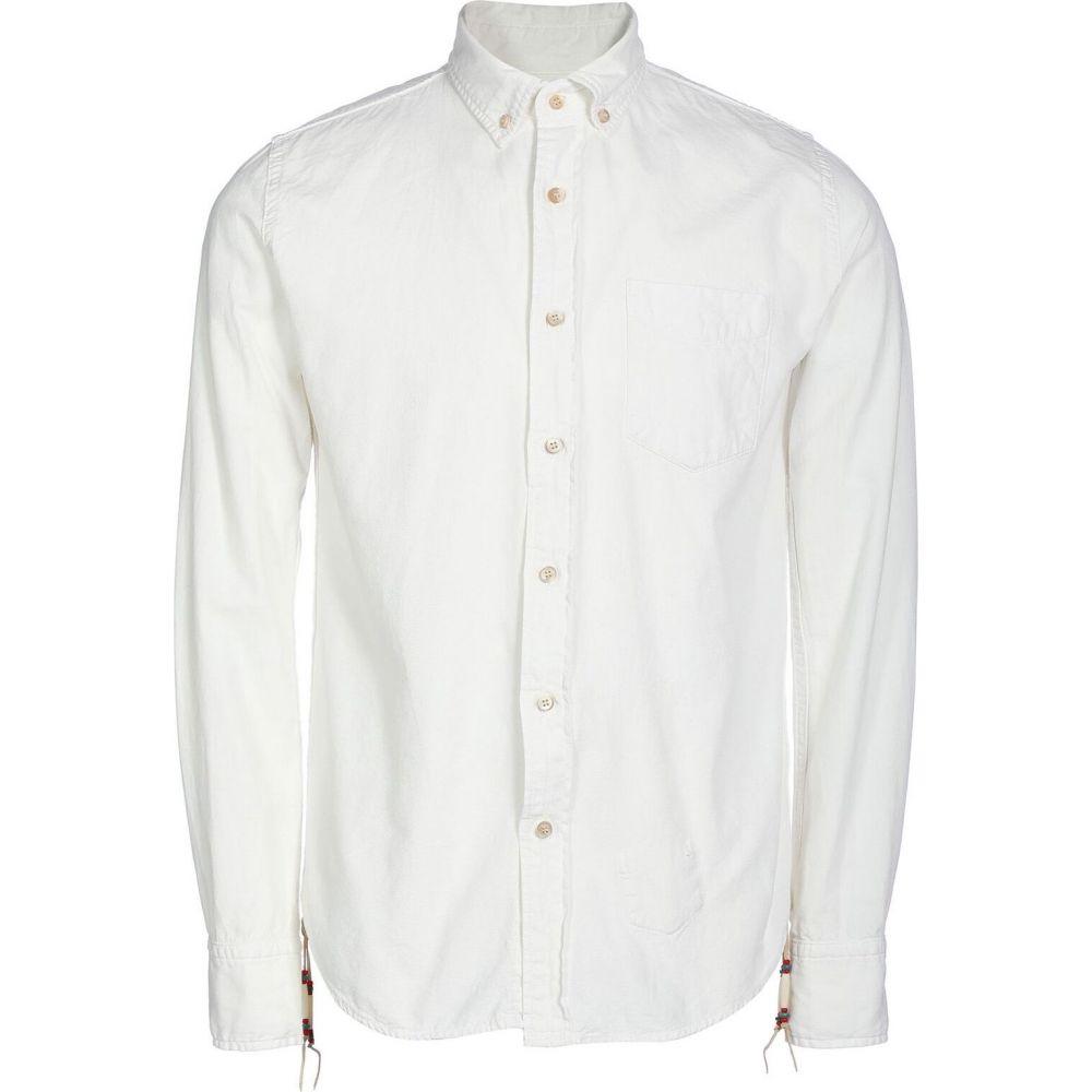 レミレリーフ REMI RELIEF メンズ シャツ トップス【solid color shirt】White