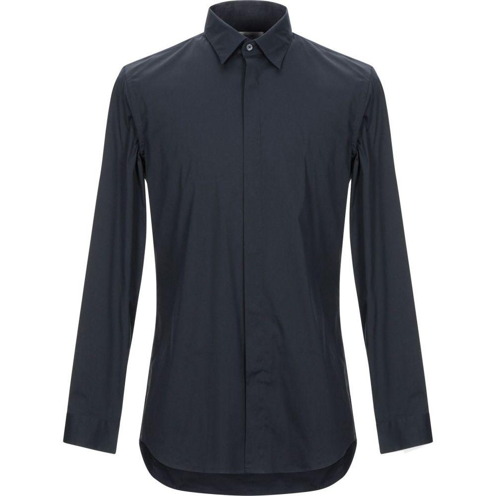 マウロ グリフォーニ MAURO GRIFONI メンズ シャツ トップス【solid color shirt】Dark blue