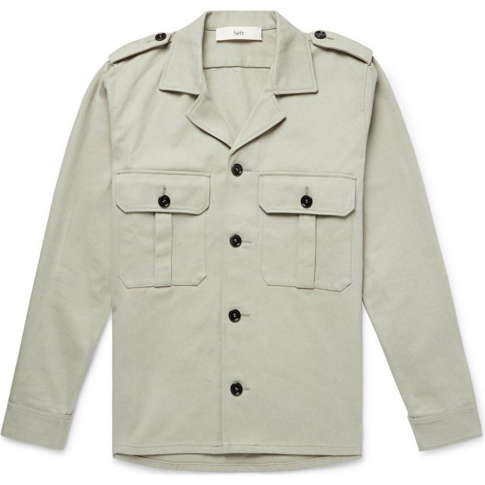 セファ SEFR メンズ シャツ トップス【solid color shirt】Light grey