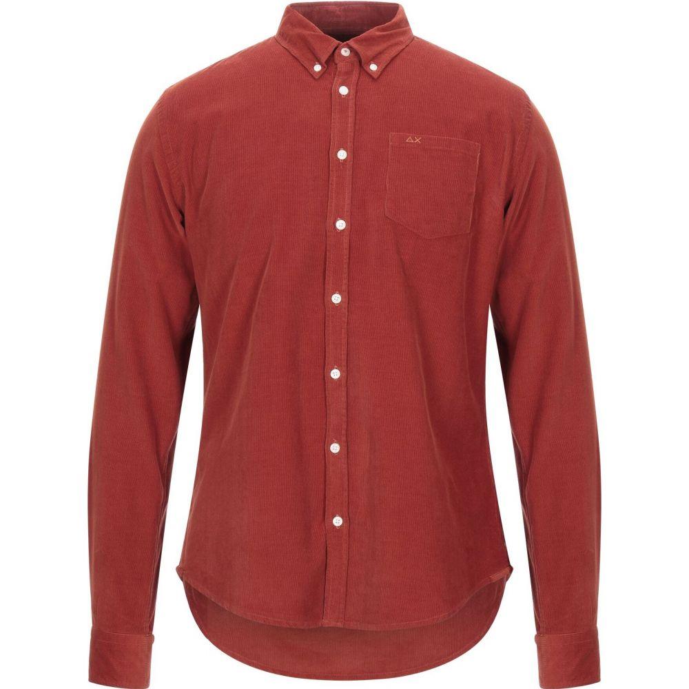 サン シックスティーエイト SUN 68 メンズ シャツ トップス【solid color shirt】Rust