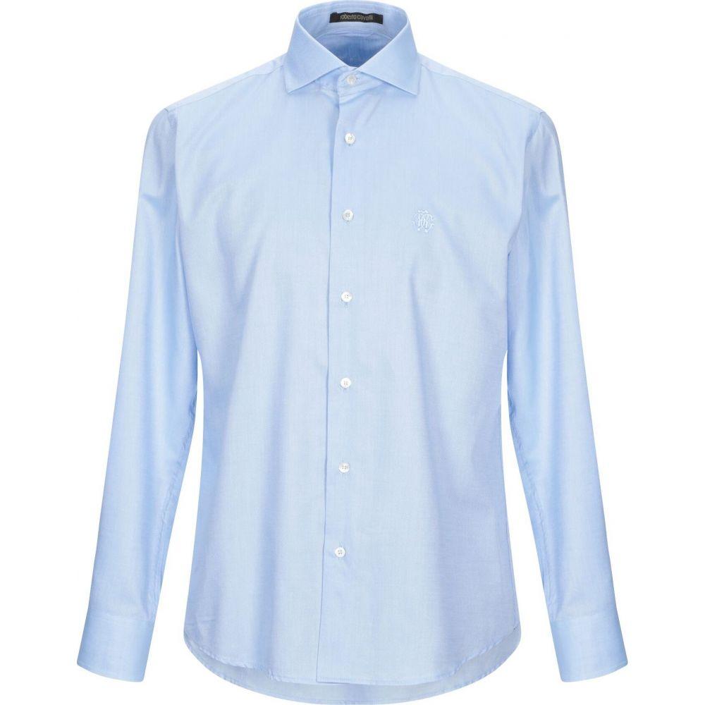 ロベルト カヴァリ ROBERTO CAVALLI メンズ シャツ トップス【solid color shirt】Sky blue