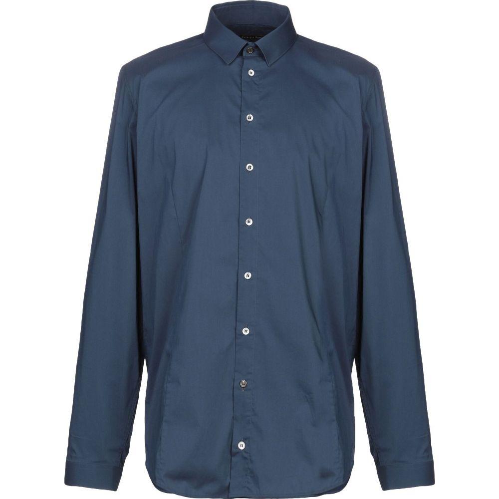パトリツィア ペペ PATRIZIA PEPE メンズ シャツ トップス【solid color shirt】Dark blue