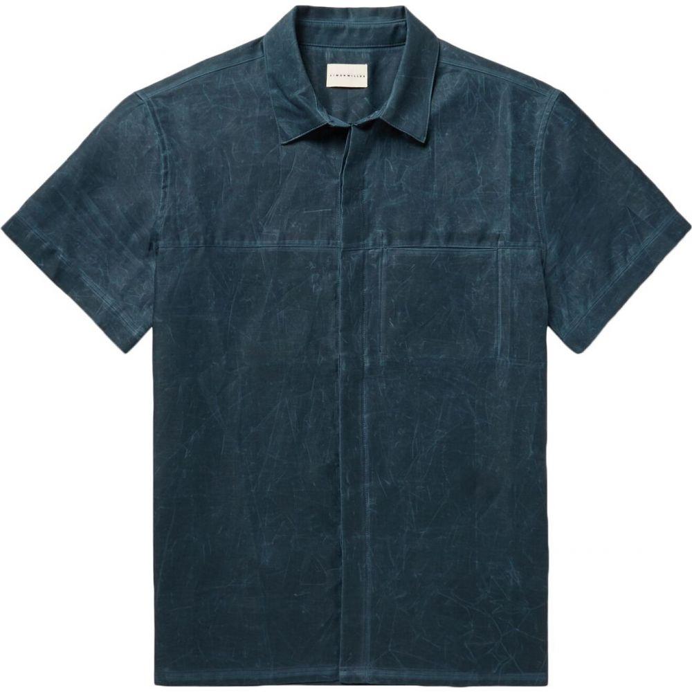 サイモンミラー SIMON MILLER メンズ シャツ トップス【solid color shirt】Deep jade