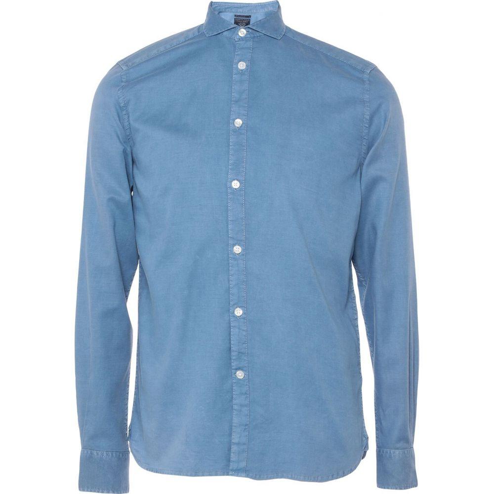 ノース ポール NORTH POLE メンズ シャツ トップス【solid color shirt】Sky blue