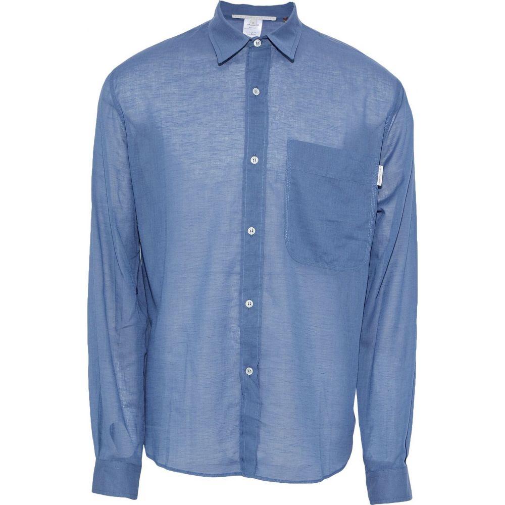 ステラ マッカートニー STELLA McCARTNEY MEN メンズ シャツ トップス【solid color shirt】Blue