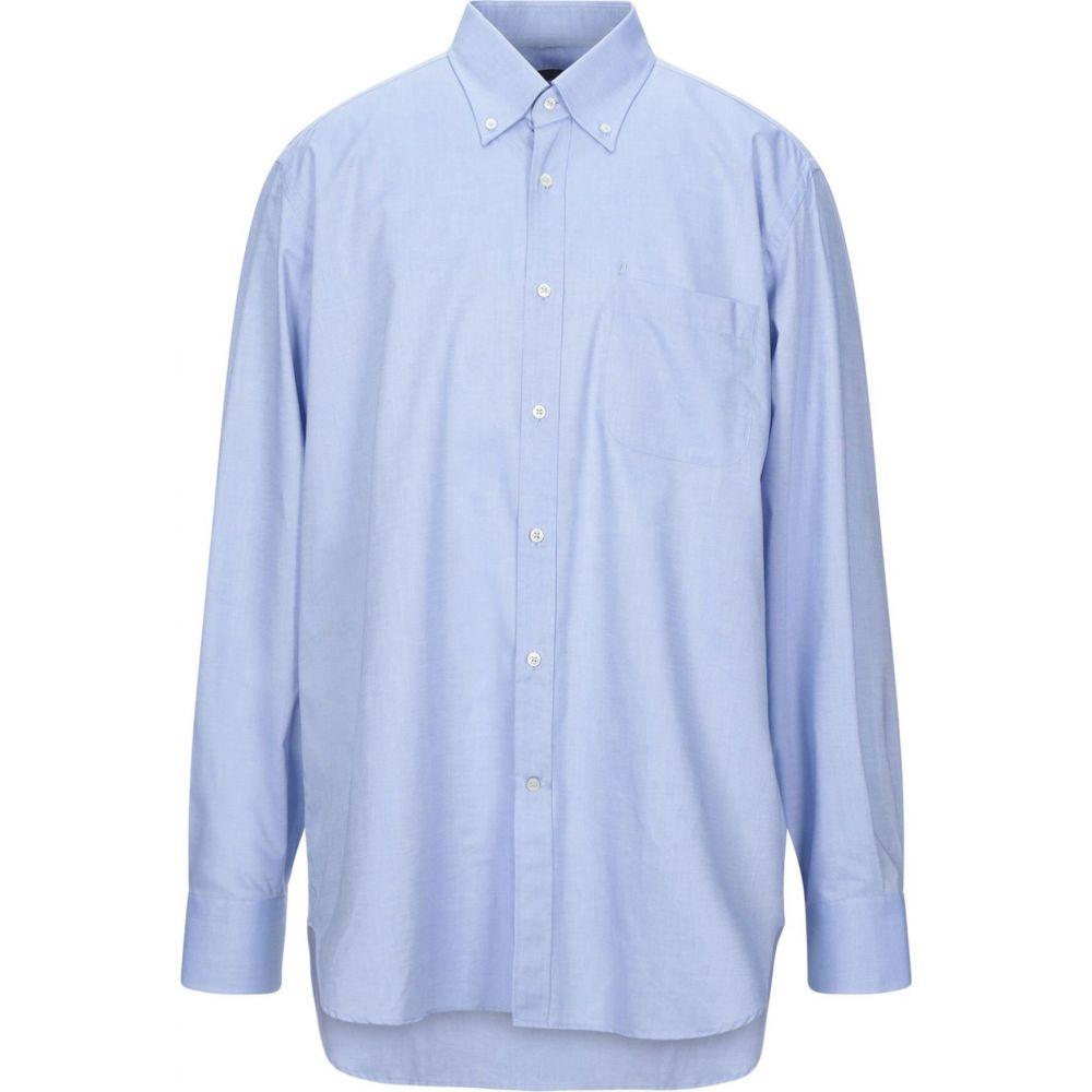ウンガロ UNGARO メンズ シャツ トップス【solid color shirt】Slate blue