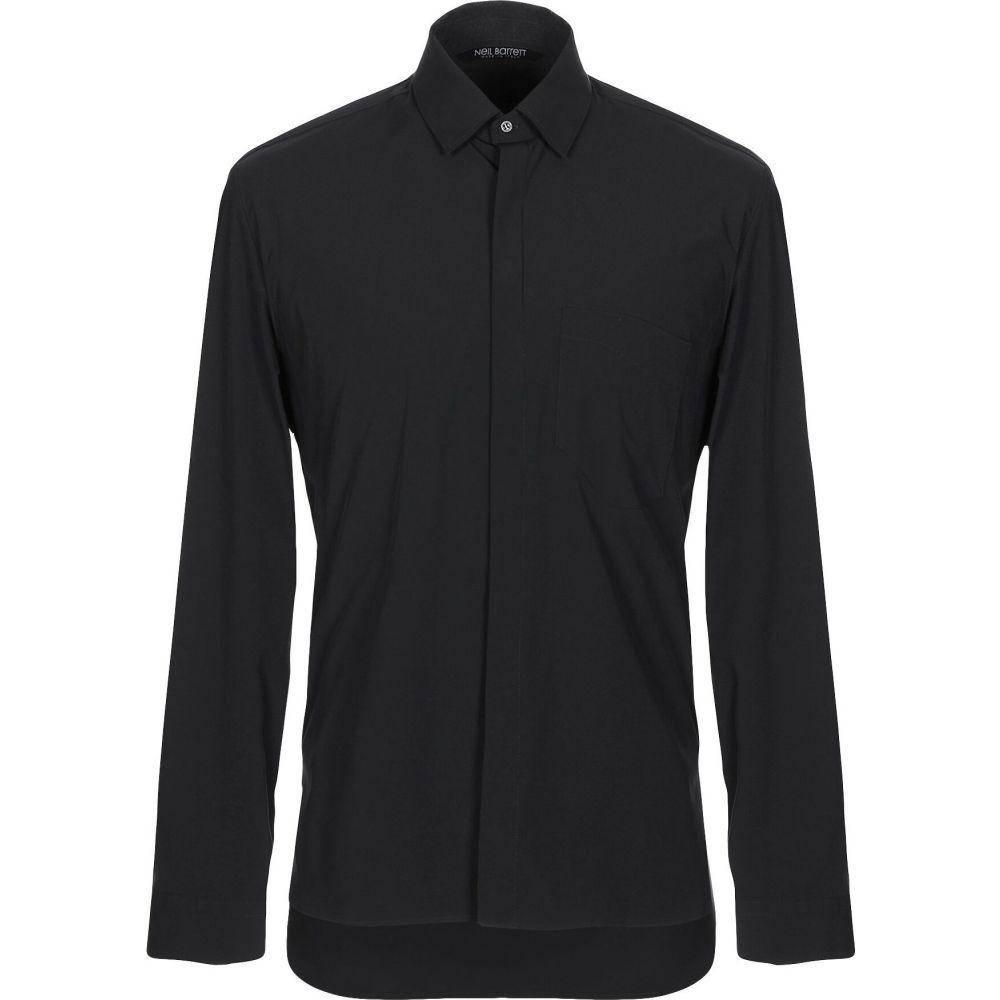 ニール バレット NEIL BARRETT メンズ シャツ トップス【solid color shirt】Black