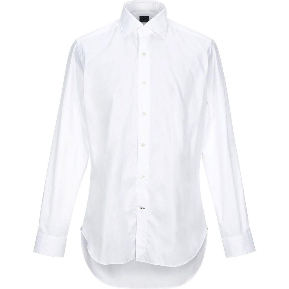 トゥルッツィ TRUZZI メンズ シャツ トップス【solid color shirt】White