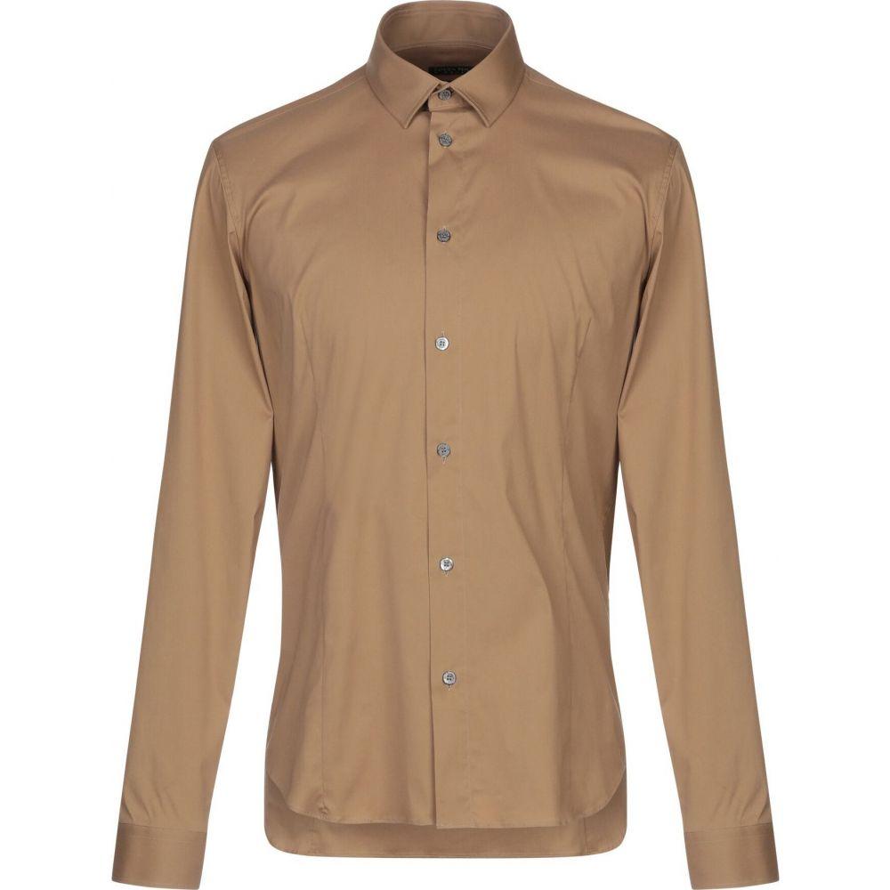 パトリツィア ペペ PATRIZIA PEPE メンズ シャツ トップス【solid color shirt】Camel