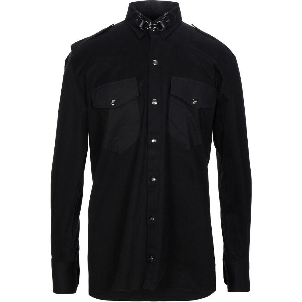 ヌメロ NUMERO 00 メンズ シャツ トップス【solid color shirt】Black