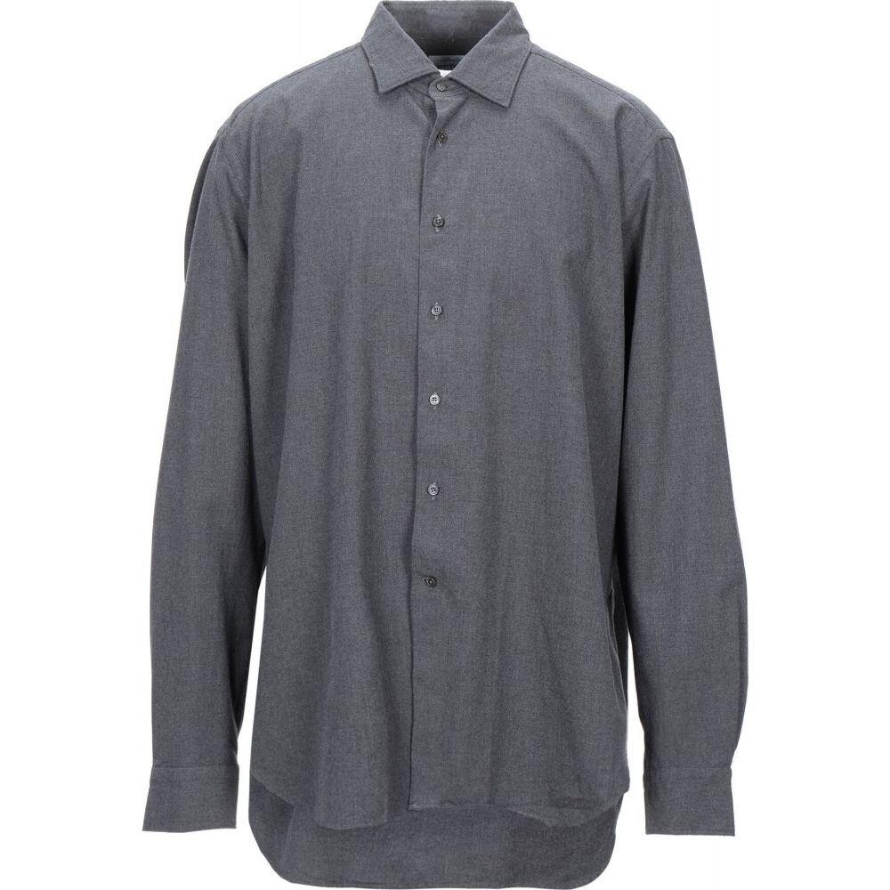 ロベルトフリードマン ROBERT FRIEDMAN メンズ シャツ トップス【solid color shirt】Steel grey