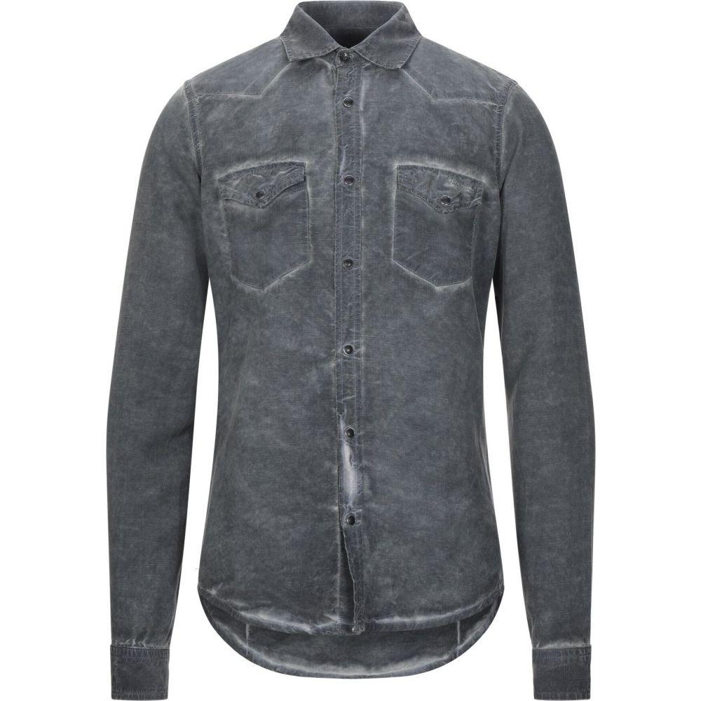 ロイロジャース ROY ROGER'S メンズ シャツ トップス【solid color shirt】Steel grey