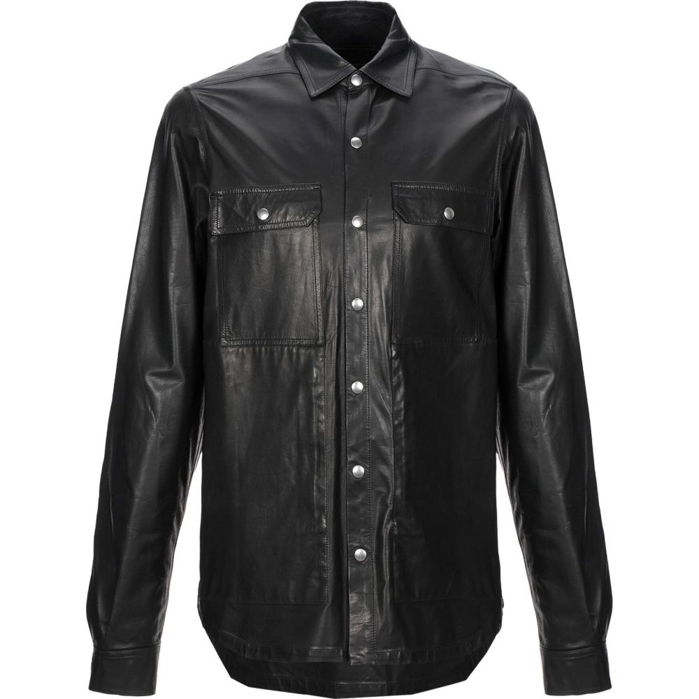 リック オウエンス RICK OWENS メンズ シャツ トップス【solid color shirt】Black