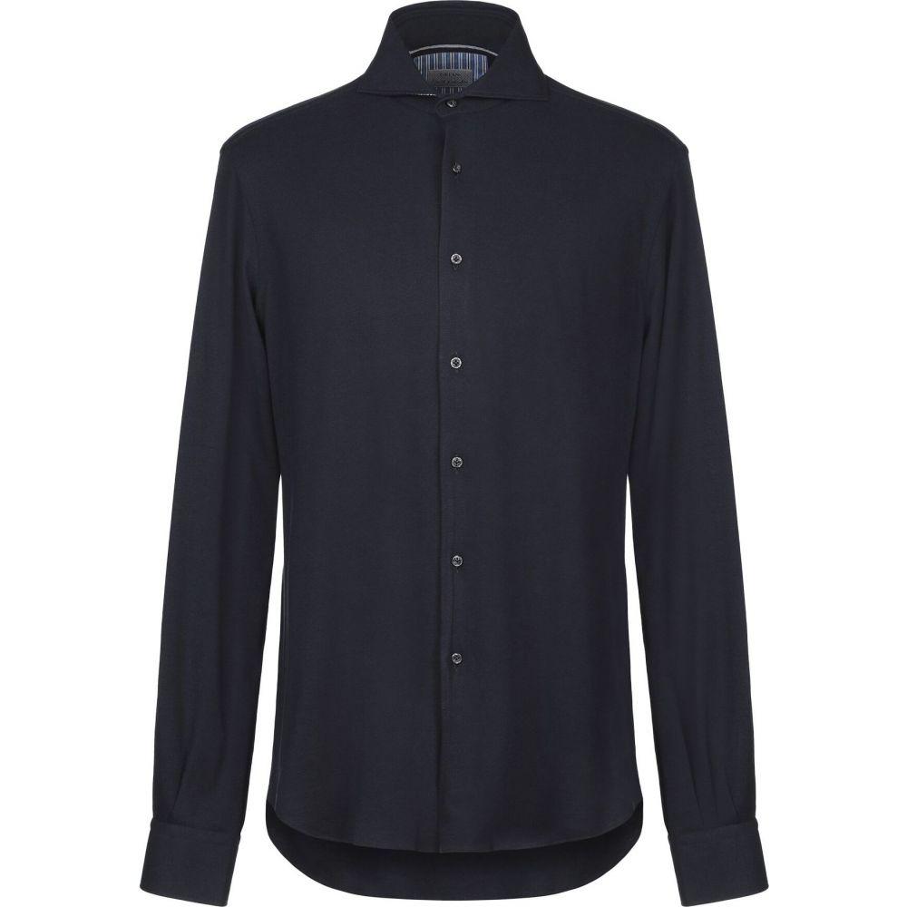 オリアン ORIAN メンズ シャツ トップス【solid color shirt】Dark blue