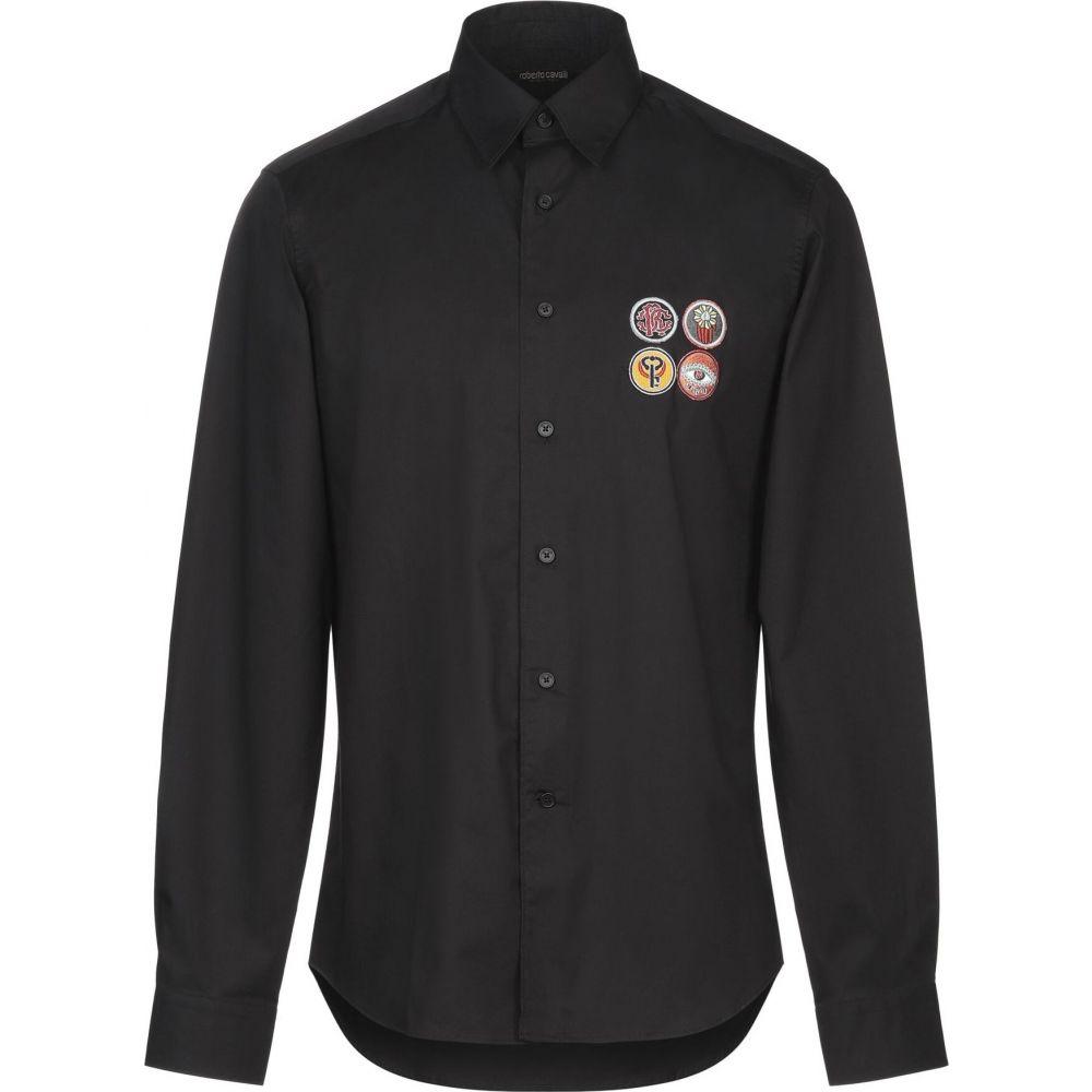 ロベルト カヴァリ ROBERTO CAVALLI メンズ シャツ トップス【solid color shirt】Black