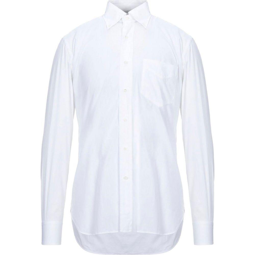 オリアン ORIAN メンズ シャツ トップス【solid color shirt】White