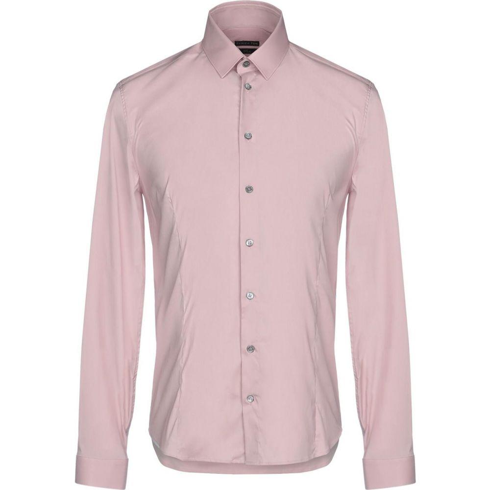 パトリツィア ペペ PATRIZIA PEPE メンズ シャツ トップス【solid color shirt】Pastel pink