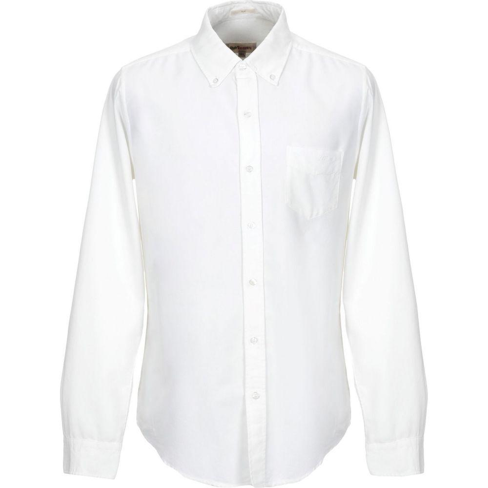 ロイロジャース ROY ROGER'S メンズ シャツ トップス【solid color shirt】White
