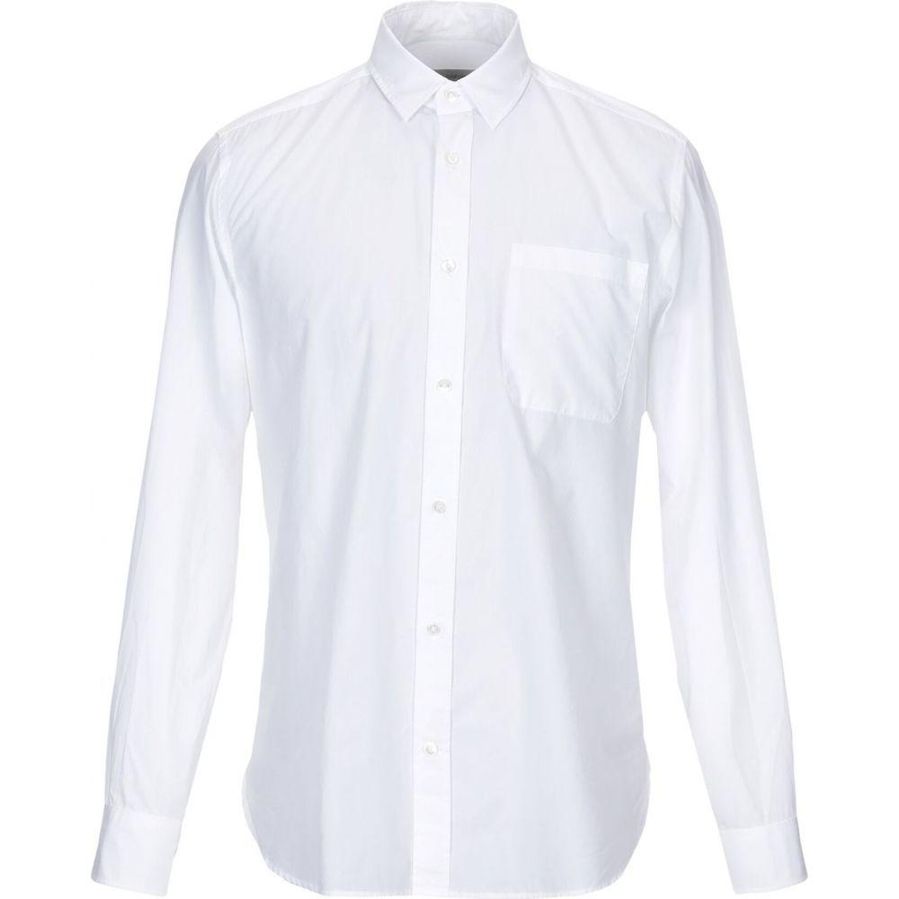 マウロ グリフォーニ MAURO GRIFONI メンズ シャツ トップス【solid color shirt】White