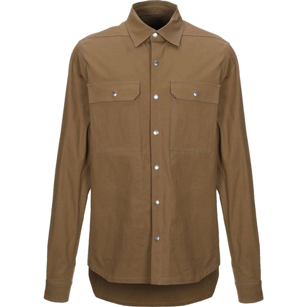 リック オウエンス RICK OWENS メンズ シャツ トップス【solid color shirt】Khaki