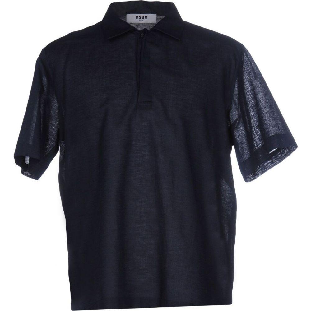 エムエスジーエム MSGM メンズ シャツ トップス【solid color shirt】Dark blue