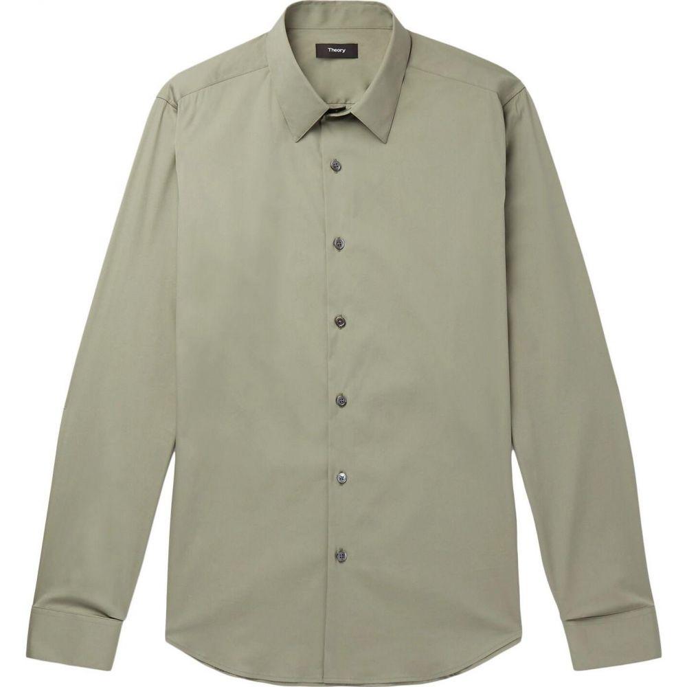 セオリー THEORY メンズ シャツ トップス【solid color shirt】Military green
