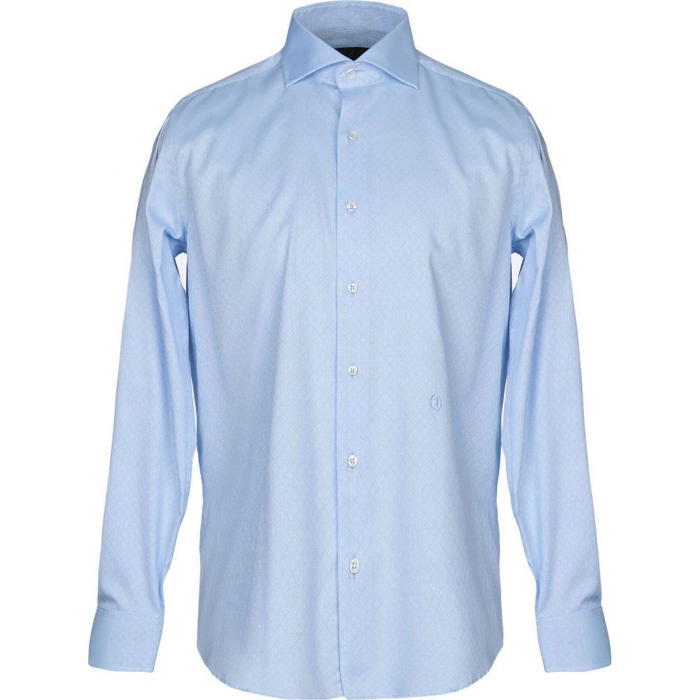 トラサルディ TRU TRUSSARDI メンズ シャツ トップス【solid color shirt】Sky blue