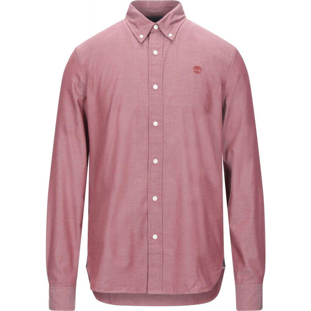 ティンバーランド TIMBERLAND メンズ シャツ トップス【solid color shirt】Brick red