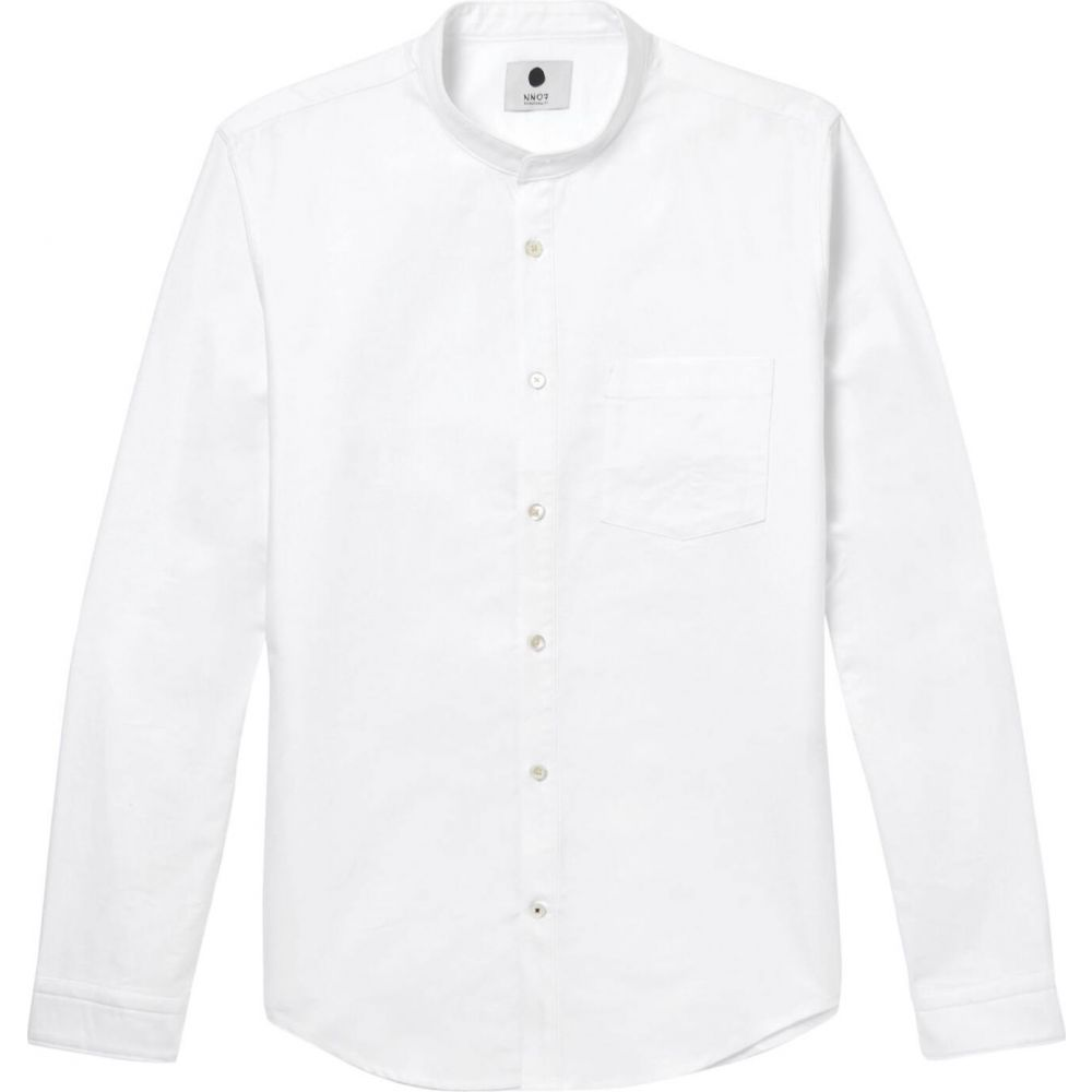 NN07 メンズ シャツ トップス【solid color shirt】White