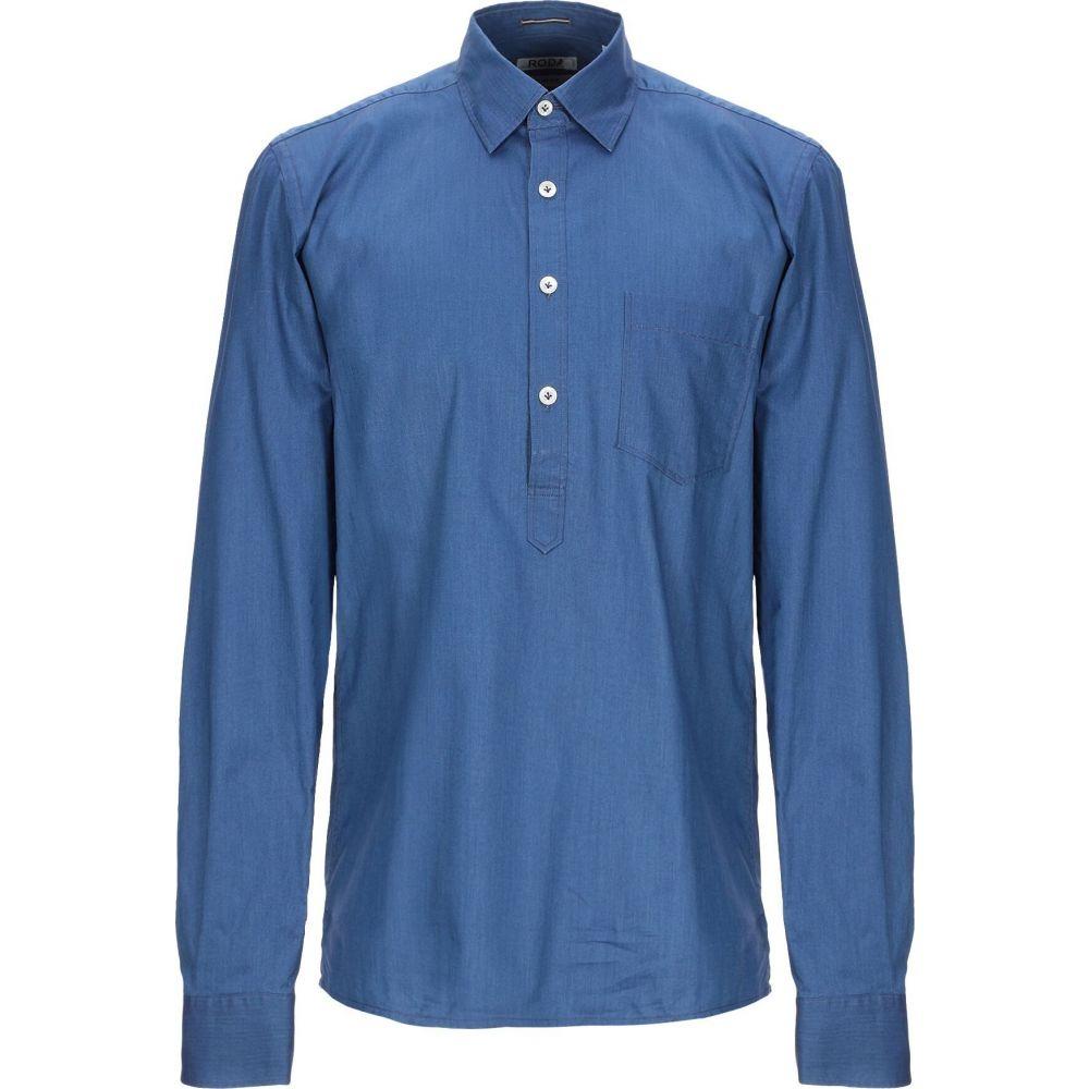 ロダ RODA メンズ シャツ トップス【solid color shirt】Blue