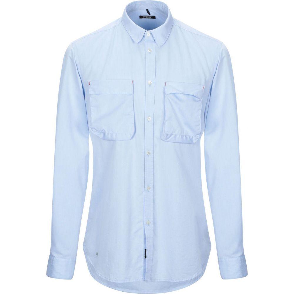 オフィチーナ トレンタ セイ OFFICINA 36 メンズ シャツ トップス【solid color shirt】Sky blue