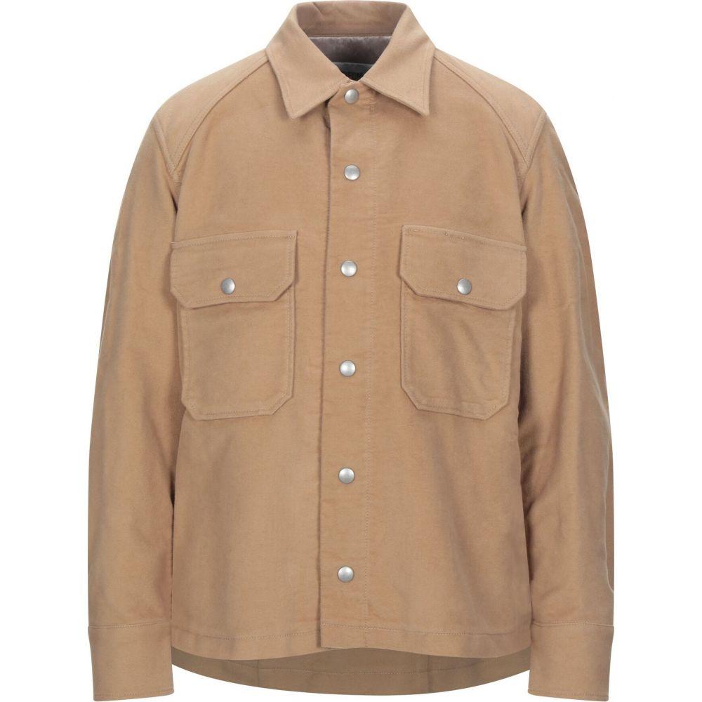 マウロ グリフォーニ MAURO GRIFONI メンズ シャツ トップス【solid color shirt】Camel