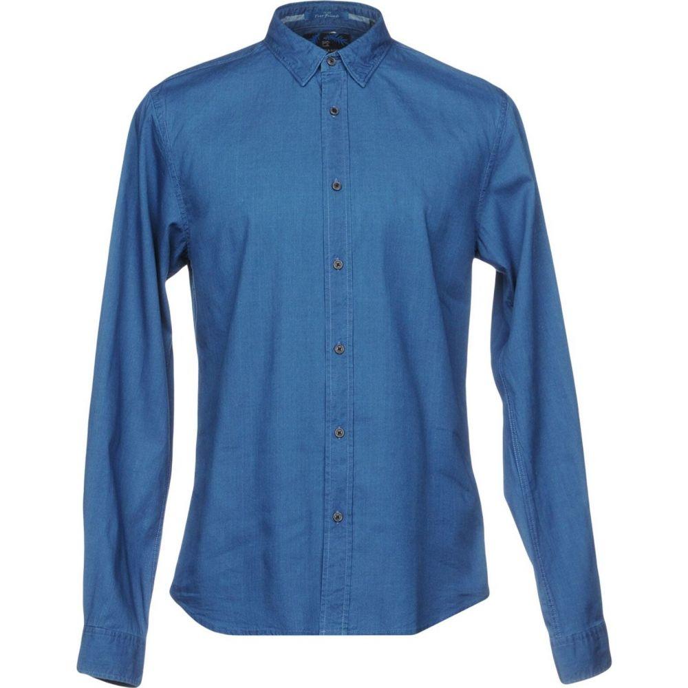 スコッチ&ソーダ SCOTCH & SODA メンズ シャツ トップス【solid color shirt】Blue