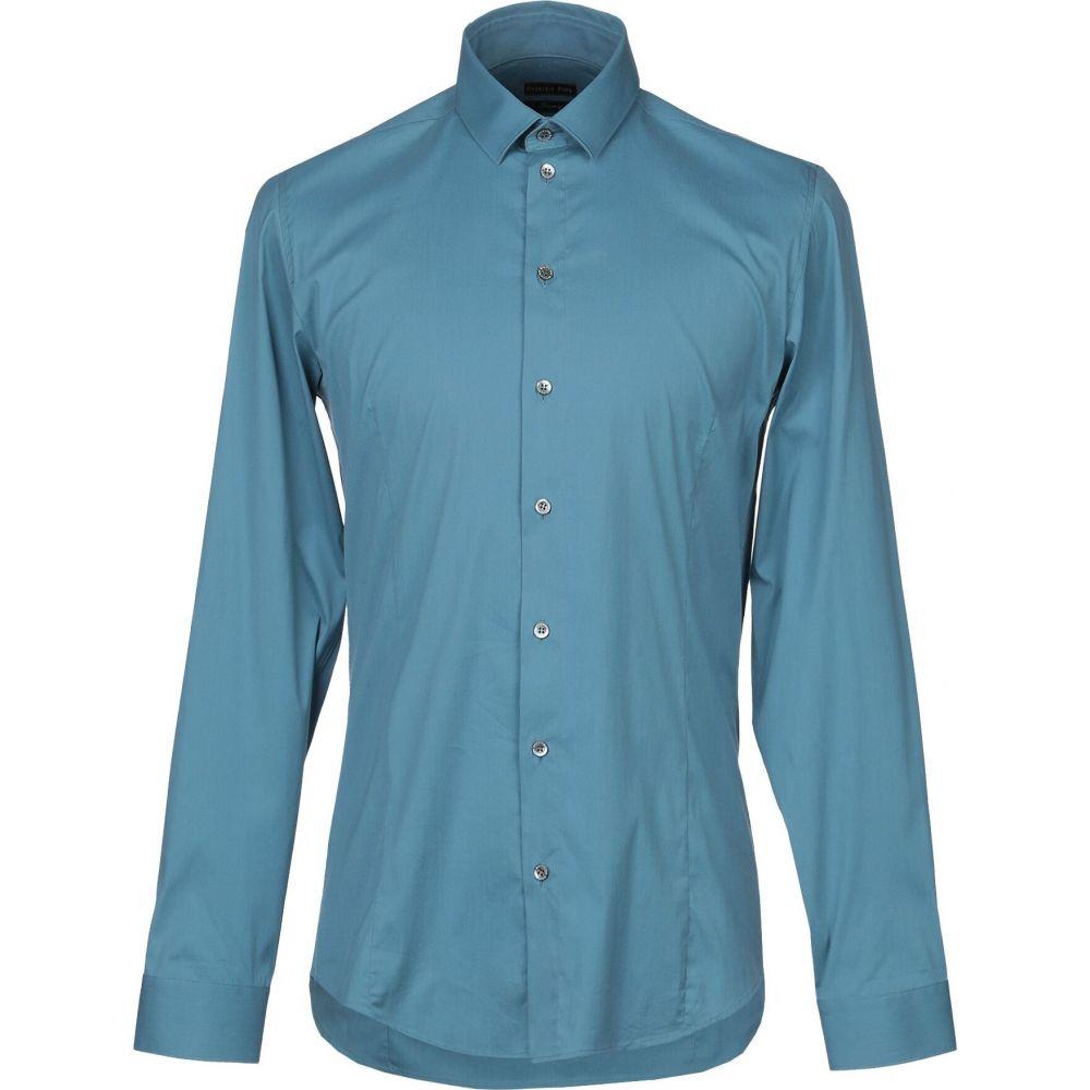 パトリツィア ペペ PATRIZIA PEPE メンズ シャツ トップス【solid color shirt】Azure