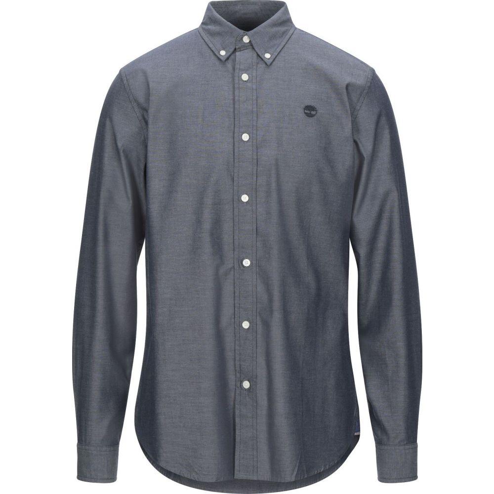 ティンバーランド TIMBERLAND メンズ シャツ トップス【solid color shirt】Blue