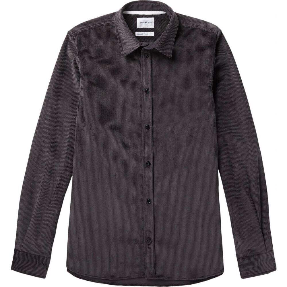 ノースプロジェクト NORSE PROJECTS メンズ シャツ トップス【solid color shirt】Steel grey