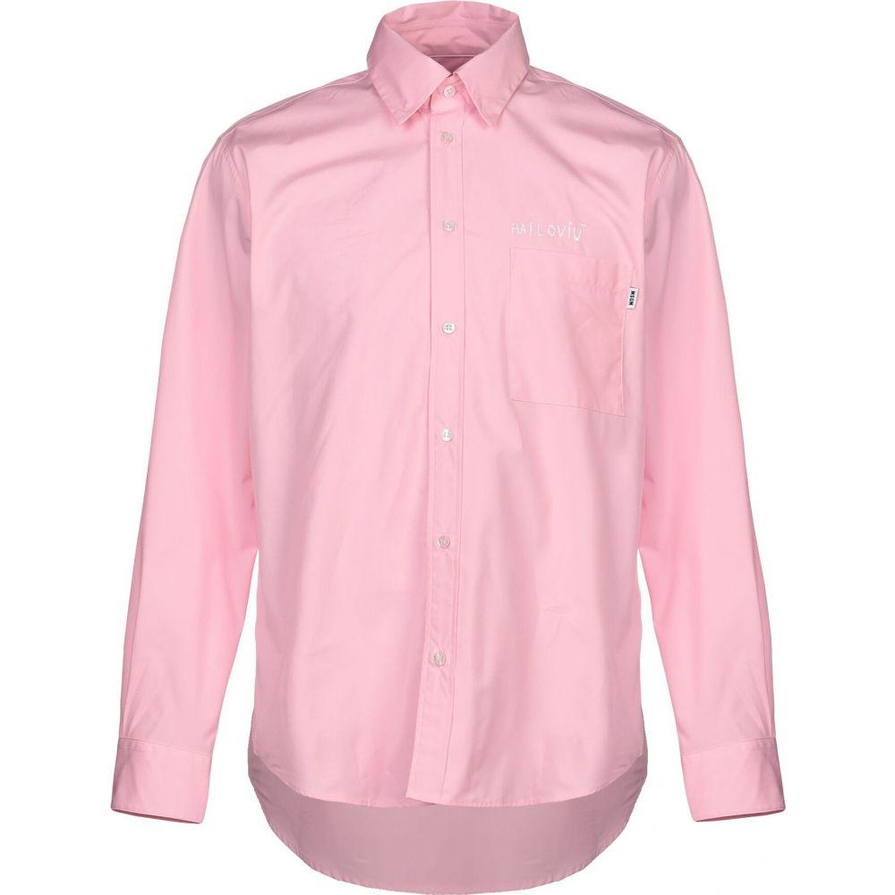 エムエスジーエム MSGM メンズ シャツ トップス【solid color shirt】Pink