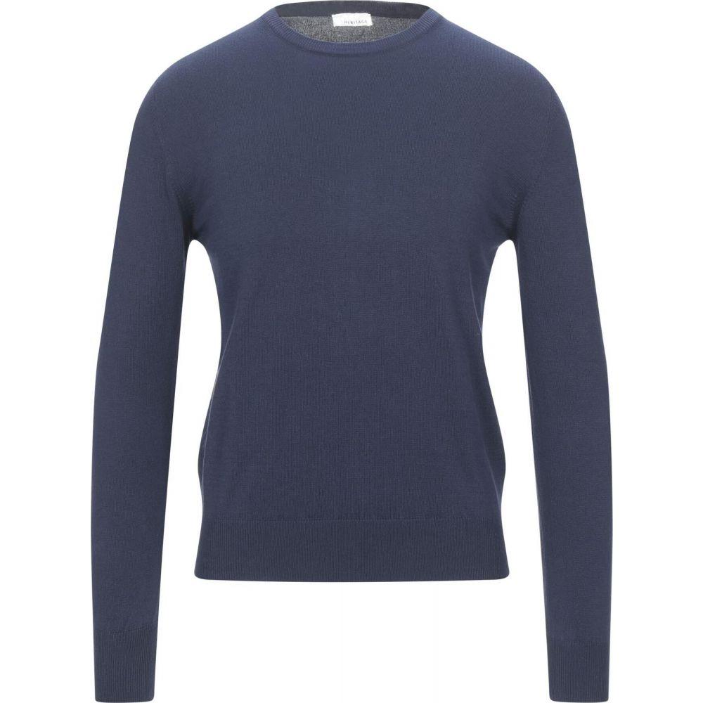 ヘリテイジ メンズ トップス ニット セーター 『4年保証』 1年保証 Dark サイズ交換無料 Sweater HERITAGE blue