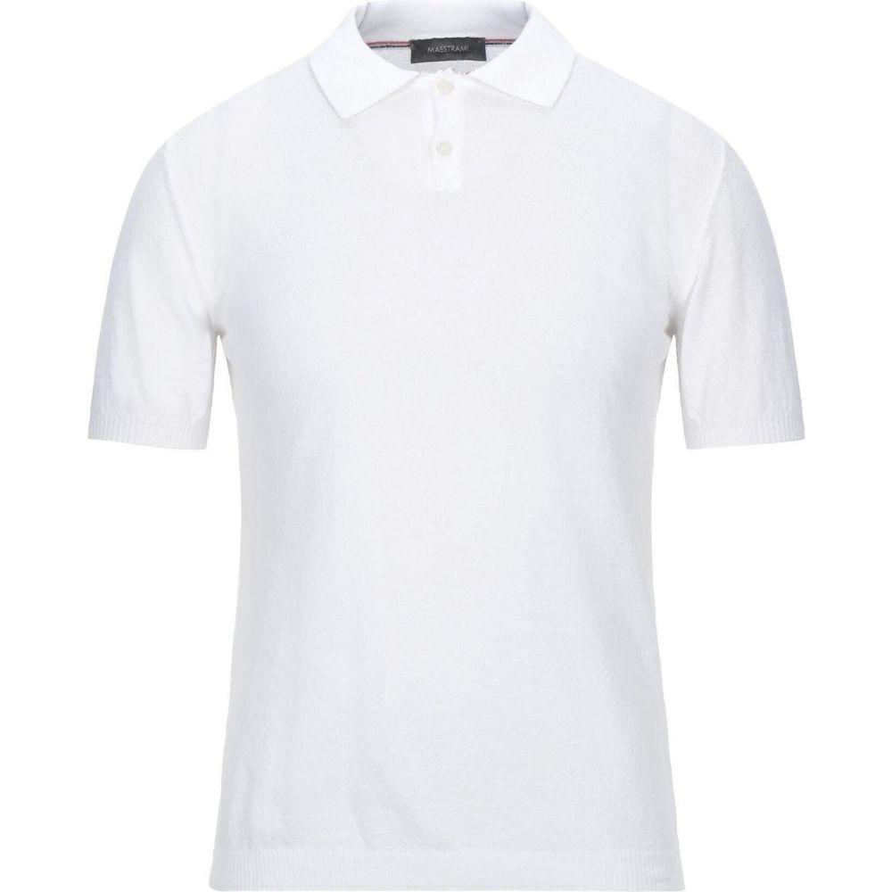 無料 マエストラミ メンズ トップス ニット セーター Sweater サイズ交換無料 訳あり商品 White MAESTRAMI