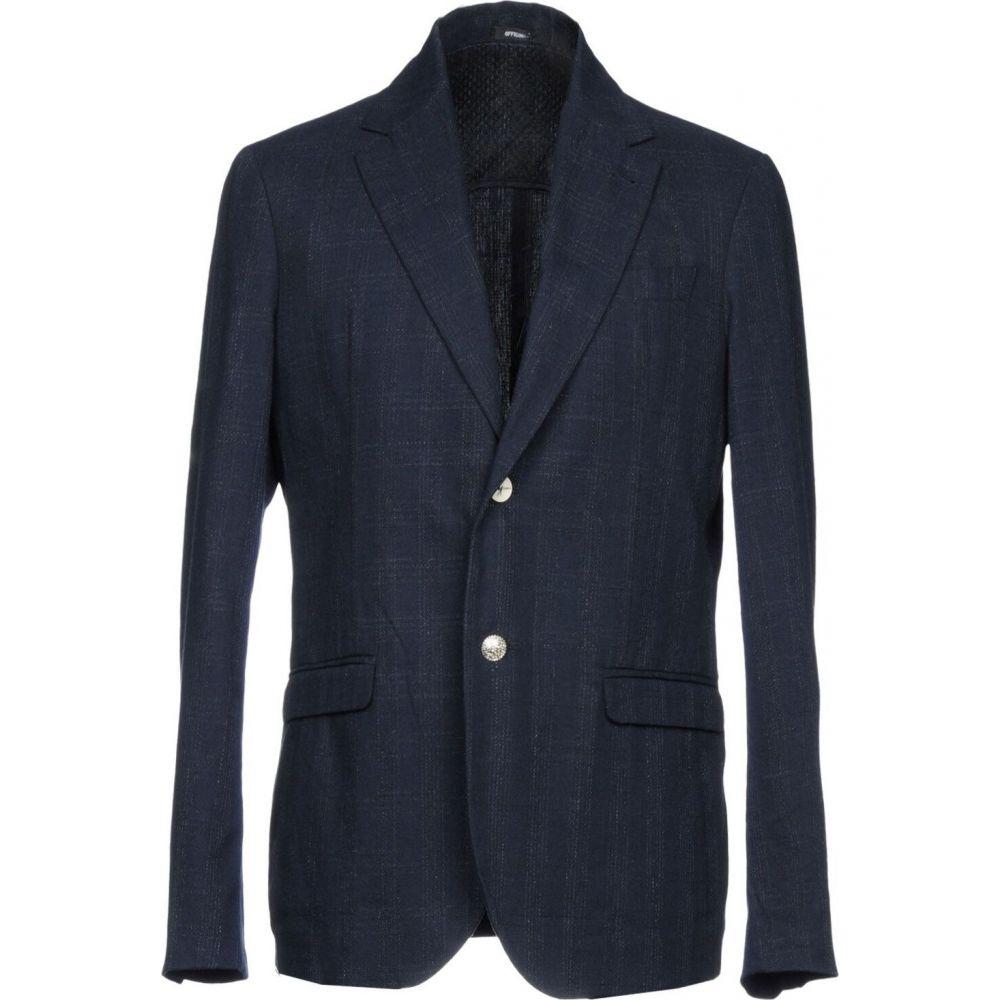 【国際ブランド】 オフィチーナ トレンタ セイ OFFICINA 36 メンズ スーツ・ジャケット アウター【Blazer】Dark blue, 数量限定セール  9a2bcb67